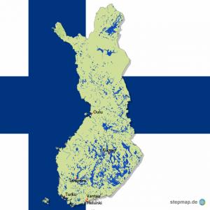 Finnland Karte