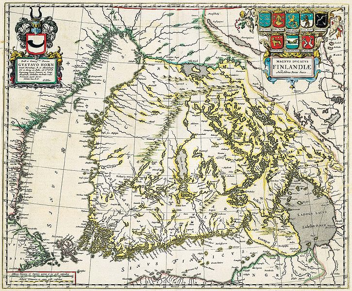 Karte Finnland historisch