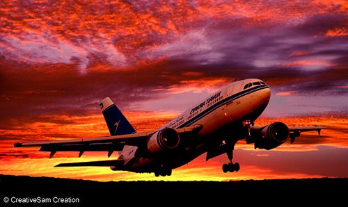 Flugzeug nach Helsinki